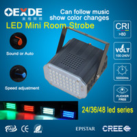 Wholesale factory stage lighting w w w Music control Manually set LED Series LED Effects led Mini room strobe ac90 v