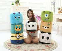 Wholesale Monster University Xiao Huang people easily bear hair strange owl Adults Children round stool washable foam particles