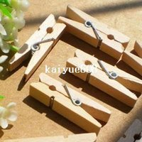wood clamp - Copper alligator clips wood clip clamp pins mini wooden pegs wedding gift