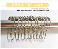 Wholesale Polished Satin Nickel Ball Shower Roller Balls Curtain Rings Hooks