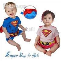 Wholesale Hot Sale New Cool Superman Rompers Super Man Baby romper Short Sleeved Cotton kids Jumpsuit Smock Infant Romper