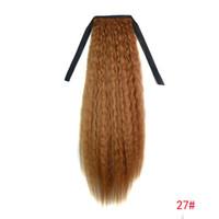 Wholesale ponytail human hair wig ponytail Yanhua Tang corn real hair long hair ponytail yellow flax