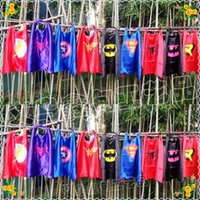 autumn favors - New Styles superhero capes party favors customize logo Superman Spiderman Batman Captain America Ironman mono layer capes Kids Poncho