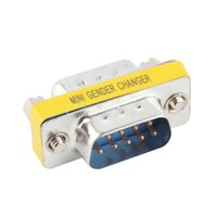Wholesale 9 Pin RS DB9 Male to Male Serial Cable Gender Changer Coupler Adapter YKS