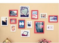Cheap Clever Fashion Photo Frame for Picture Wall,Picture Quadros Decorativos 13 Frame Set Wood Material,Paint Film is Smooth and Full