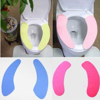 Wholesale New Comfort Self Adhesiv Reusable Healthy Bathroom Toilet Mat Cover Pads A1527