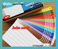 Wholesale 10 different colors index card double side blank vocabulary card index cards for Host portable size of mm