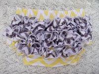 Others baby shower diapers - yellow and grey Chevron Ruffled Bloomers Baby Bloomers Baby Shower Gift Baby Girl Diaper Cover Photo Prop Smash Cake Outfit
