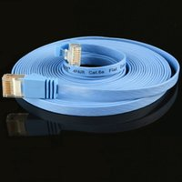 utp cat 6 cable - 500PCS m m m m m m m CAT Flat UTP Ethernet Network Cable RJ45 Patch LAN cable FREESHIPPING BY dhl fedex ups
