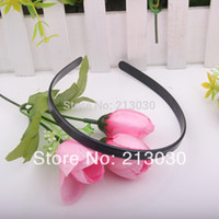 Wholesale 1CM DIY Black Plastic Hairband base Without Shining Painting Head Band With Tooth Hand Making With Ribbon Girls Hair Wear