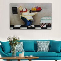 animal food pictures - And Hand painted Pictures On Canvas The Chef Serve Food Oil Painting For Room Decor Wall Painting Hang Craft
