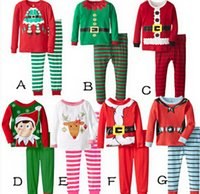 Wholesale Christmas Pajamas Set Long Sleeve Pyjamas Boy Girl Autumn Winter Pajamas Kids Pajama Sets Xmas Pajamas Baby Sleepwear Kids Cothes Set