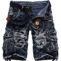 Wholesale 2015 summer The New Tooling Shorts Thin multiPocket Loose Jeans leopard camouflage Tooling Men Shorts