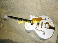white falcon - 2015 New White Falcon G6136T Hollow Jazz Guitar with Bigbys Gold Hardware OEM