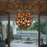Wholesale David Trubridge coral pendant lamp wood pendant light suspension lighting wood material lamp living room restaurant hotel lights