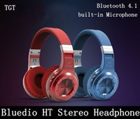 Cheap DHL Bluedio HT Wireless Bluetooth 4.1 Stereo Headphone Earphone built-in Microphone Noise Isolating Headset headphones for samsung mp3 mp4