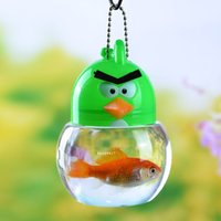 Wholesale Sale by bulk Mini Small Angry Birds bottle Plastic fish tank Small Pet containers Package mail Multicolor