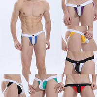 Wholesale Free Droppshipping Men s Open Back Thongs Jockstrap G string Briefs Low Rise Underwear S M L XLSL00448