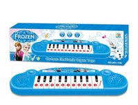 best musical songs - Retail Musical instruments toy kids Frozen girl electronic organ toy keyboard electronic baby piano with music song best child gift