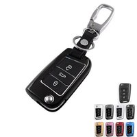 Wholesale Factory direct aluminum alloy car key protective shell car key case cover suitable for Volkswagen Golf with car key chain