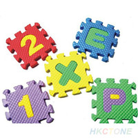 Wholesale 36x Baby Child Kids Novelty Alphabet Number EVA Puzzle Foam Teaching Tools Toy Mats PX4 U7R P1W