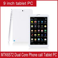 Wholesale 9 Inch Dual core Android Tablet PC G call GPS Bluetooth FM Dual SIM card Screen Dual camera phone call Tablet PC