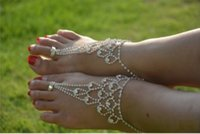 Wholesale Shining Alloy Anklet Foot Jewellery Bridal Jewelry Multilayer Golden Chains each Barefoot Sandals Wedding Accessories WL017
