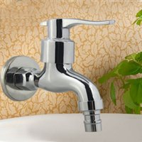 Wholesale Sell New Zinc Alloy Quick Opening Tap Chrome Plating Washing Machine Faucets Laundry Utility Fast faucets Pointed tip