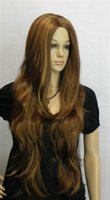 animations dark brown - stylish animation Dark Brown wavy sexy Sophisticated and elegant wig A169