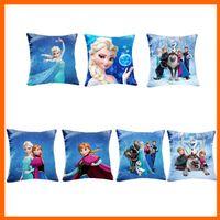 Wholesale 2014 Princess Elsa Anna Fashion Pillow Case CM Cartoon Cushion Cover Pieces One Multi Patterns one Side