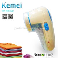 Wholesale KEMEI portable Chargeable Lint Remover Low noise design Big and round blade Shaving Machine Sweater Clothes Shaver KM