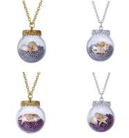 Neuf Sea Collier Vent, Bouteille Le verre Starfish Conch collier pendentif petites perles, Bijoux Fashion Ladies Cadeau Saint Valentin