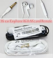 Cheap Wholesale DHL FEDEX Free In-Ear Stereo white black Earphone 3.5mm Headphones Headset with Mic and Remote for Samsung Galaxy S4 Note 3 200pcs