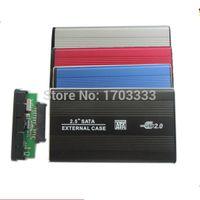 Wholesale High quality USB SATA hard disk driver HDD case enclosure DHL Fedex