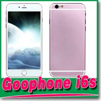 Wholesale Pink Metal Goophone i6s Quad Core MTK6582 GHz GB GB GB GB GB Android inch HD Single Nano Sim Card Smart Phone