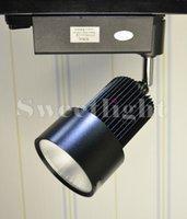 Wholesale COB W LED Track light AC85 V black shell lm cool white warm light cs007