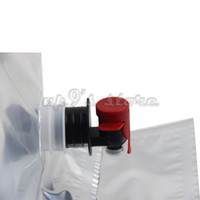 Plastic bag in box wine - 5PCS New Brand Liter BIB Bag BAG IN BOX Wine Bags W MM Screw Factory Sterilized Wine Bags With Tap