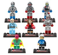 Wholesale 8pcs set The Avengers Age of Ultron Super Hero figures blocks sets brick baby toys