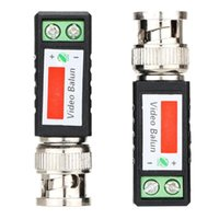 Wholesale Good X Coax CAT5 Camera CCTV Passive BNC Video Balun to UTP Transceiver Connector