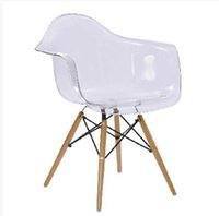 wood bookcase - Eames chair Solid wood dining chair Scandinavian armchair Chair transparent simple fashion exquisite designer chairs