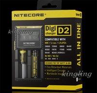 achat en gros de albums lcd-Albums qualité Nitecore D2 vs I2 I4 D2 D4 Intellicharger LCD Display E Cigarettes chargeur universel pour 14500 de 18500 18350 18650 Li-sur batterie