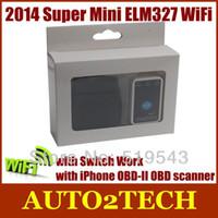 best obd ii code reader - Best Tool Super Mini ELM327 WiFi with Switch Work iPhone Super OBD II OBD Can MINI ELM327 Code Reader Tool with good price