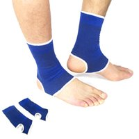 Wholesale 1 Pair Blue Nylon Ankle Pad Protection Elastic Brace Guard Support Sports Gym