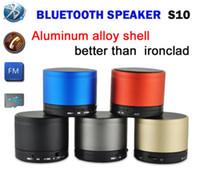 Altavoz Portátil Altavoces S10 Bluetooth Mini Wireless HI-FI Reproductor de música estéreo de los subwoofers Audio Soporte de tarjeta TF FM reproductor de mp3