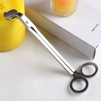 Wholesale Silver Candle Wick Oil Lamp Stainless Steel Trimmer Scissor Cutter Snuffers Tool