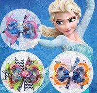 Cheap New Frozen Elsa Anna Princess Hair Clips Ribbon Bow Flower Alligator Hair Clip Infant Hairpins Hair Accessories Children Hair Barrettes