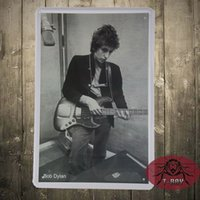 antique singer - Bob Dylan Guitar Singer Retro Metal Tin Signs Poster Decor Home Club Wall