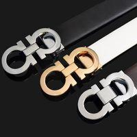 Wholesale 2016 New Quality luxury Belts mens cow leather belt brand designer Belts For Men Belts Gold silver Buckle
