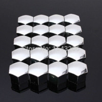 Wholesale 20pcs set mm Car Plastic Caps Bolts Covers Nuts Alloy Wheel Matt Protectors Chrome cap catch bolt cap