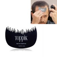 plastic hair comb - New Toppik Hairline Optimizer Comb Hair Template Hairline Contour Optimizer Baffle Hair Building Fibers Comb